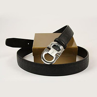 Tagre™ Ferragamo Men Woman Fashion Smooth Buckle Belt Leather Belt