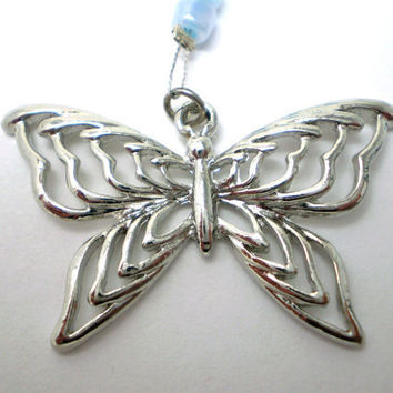 Butterfly Car Charm - CUSTOMIZE your chain colors - Made to Order