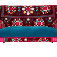 Patchwork sofa with Suzani fabrics - 6