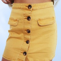 Do Your Thing Skirt: Mustard