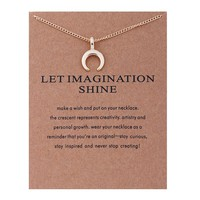 Moon Card Alloy Clavicle Pendant Necklace   171212