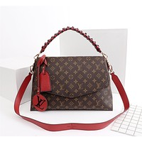 LV Louis Vuitton MONOGRAM CANVAS BEAUBOURG HANDBAG INCLINED SHOULDER BAG