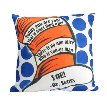 Today You Are You | Teachers Gift | | Fun Gifts | Pillow Cover | Home Decor | Throw Pillows | Happy Birthday | Kids Room Decor | Room Decor