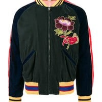 Indie Designs Green Embroidered Bomber Jacket
