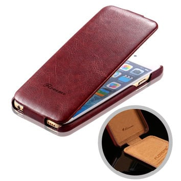 New High-end Open Up and Down Protective Case for iPhone6 4.7 inch Pull-up PU Leather Mobile Phone Sets YXF04317