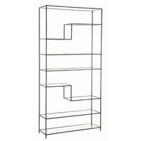 Arteriors Home Worchester Natural Iron/Glass Bookshelf - Arteriors Home 6818