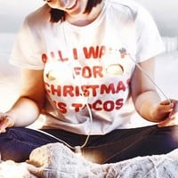 All I Want For Christmas is Tacos Shirt