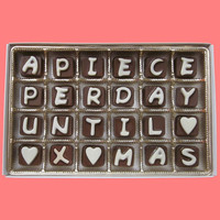 10% off Pre Order Christmas Advent Calendar 24 piece Cubic Chocolate Letters A Piece Per Day Until Xmas Christmas Gift for kids boys girls