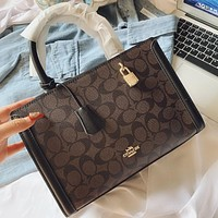 COACH Fashion New Pattern Leather Shoulder Bag Crossbody Bag Handbag