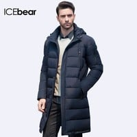 ICEbear New Clothing Jackets Business Long Thick Winter Coat Men Solid Parka Fashion Overcoat Outerwear