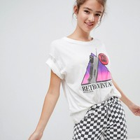 Pull&bear retro phone motif tee at asos.com
