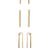 Matchstick Stud and Ear Pin Set