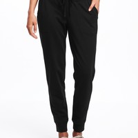 Go-Warm French-Terry Joggers for Women | Old Navy