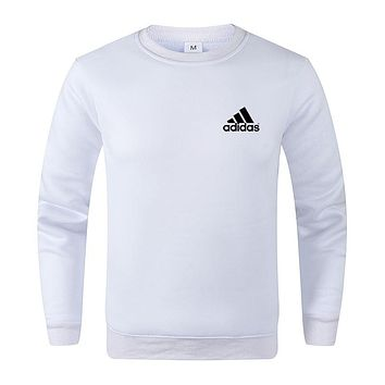 ADIDAS Tide brand casual wild round neck short-sleeved T-shirt white