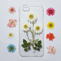 pressed flower iPhone 6s Case, floral iPhone 6 Case, iPhone 6s Case,Clear iPhone 6s Plus Case, iphone 6 case Clear,flower iphone cases