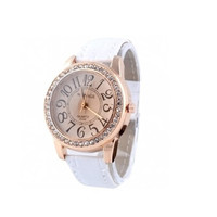 Womens Leather Strap Watches with Diamond Dial Sports Watch Best Christmas Gift