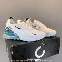 NIKE AIR MAX 270 Tide brand men's and women's sports shoes white