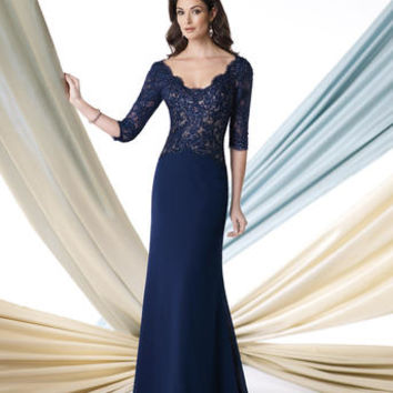 Mother of the Bride Dresses – Montage by Mon Cheri 213978 Lace Sleeves