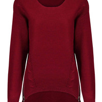 Knitted Jumper with Zip Detail