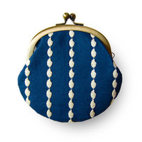 Rice Lace Navy Coin Purse by humoresque on Etsy