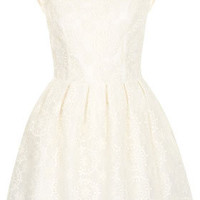 Embroidered Prom Dress - Dresses  - Clothing