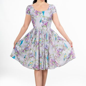Florence Dress in Mr. Blue Bird