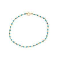 14K Gold Filled Turquoise Beaded Bracelet