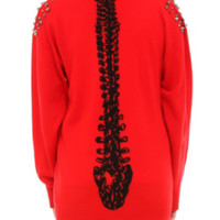 Iron Fist Spineless Red Cardigan