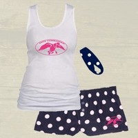 Pajama Bundle (Boxer Shorts, Tank, and Headband) PolkaDots | Duck Commander