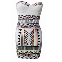 Sexy Print Bodycon Dress