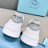 Prada new products women's thick-soled stitching color casual white shoes sneakers
