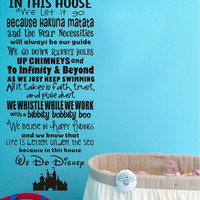 In This House We Let it Go Vinyl Quote Wall Decal Castle Art Decor Sticker for Living Room