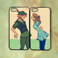 Customized Wendy & Peter Pan Couple Case-iPhone 5, iphone 4s, iphone 4, ipod touch5,  Samsung GS3-Silicone Rubber or Hard Plastic Case,cover