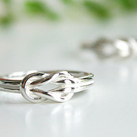 Love Knot Infinity Personalized Ring .925Silver Sterling Ring Silver Ring