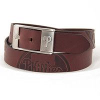 Philadelphia Phillies MLB Men's Embossed Leather Belt