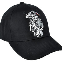 Sons of Anarchy Hat Baseball Cap Biker Grim Reaper Clothing