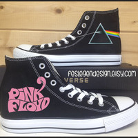 Pink Floyd 'DSoM' Custom Converse / Painted Shoes