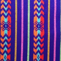 Mexican Rebozo like Folk Fabric Supply, Tribal Table Runner, Table cloth, Bohemian Aztec, Wave colorful geometric design, Fabric by the yard