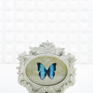 Oval Landscape Frame in Cream - Urban Outfitters