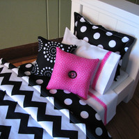 Chevron Bedding Set for American Girl Doll or by MadiGraceDesigns
