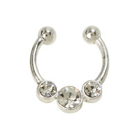 LOVEsick Triple Clear CZ Faux Septum Ring