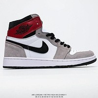 Air Jordan 1 Retro canvas high-top sneakers basketball shoes
