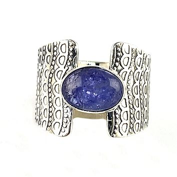 Tanzanite Sterling Silver Connection Ring