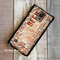 Craft Beer New York 2 Samsung Galaxy Note 4 Case Cover for Note 3 Note 2 Case