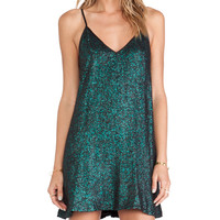 NBD Champagne Babydoll Dress in Green
