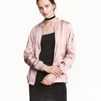 H&M Satin Bomber Jacket $24.99