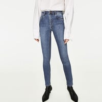 HIGH-RISE SKINNY FIT JEANS