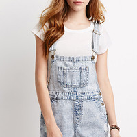 Faded Short Overalls