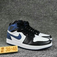Women's and Men's NIKE Air Jordan 1 generation high basketball shoes 025