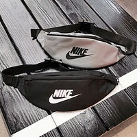 NIKE New fashion letter hook print shoulder bag crossbody bag running fitness bag